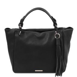 TL Bag Sac shopping en cuir souple Noir TL142048