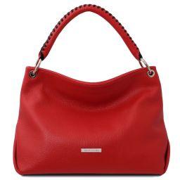 TL Bag Soft leather handbag Lipstick Red TL142087