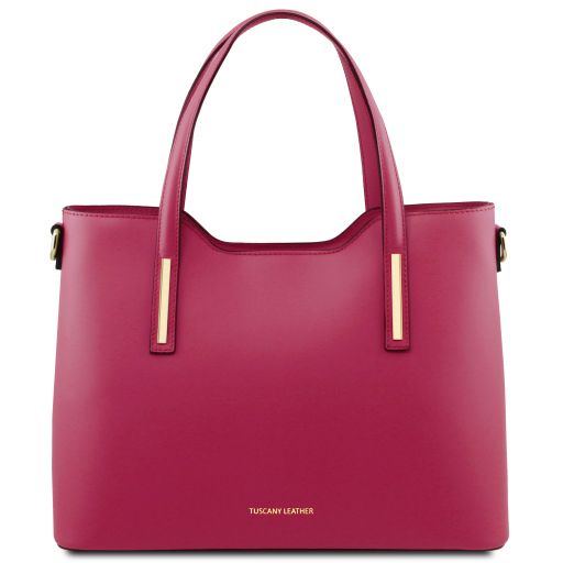 Olimpia Leather tote Фуксия TL141412