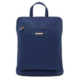 TL Bag Zaino donna in pelle morbida Blu scuro TL141682