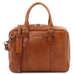 Matera Leather multi compartment briefcase Телесный TL142080