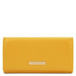 Nefti Esclusivo portafoglio donna in pelle morbida Giallo TL142053