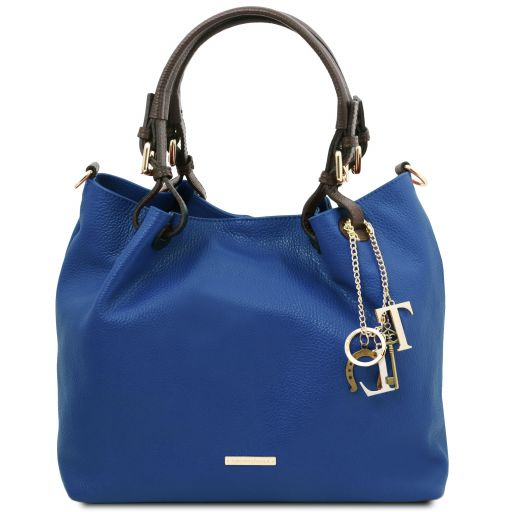 TL KeyLuck Bolso shopping en piel suave Azul TL141940