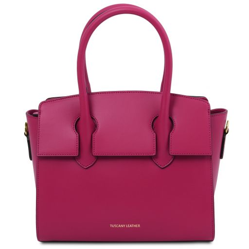 Brigid Leather handbag Fuchsia TL141943