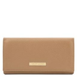 Nefti Esclusivo portafoglio donna in pelle morbida Champagne TL142053