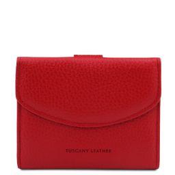 Calliope Exklusive Damenbrieftasche aus Leder mit 3 Scheinfächern und Münzfach Lipstick Rot TL142058