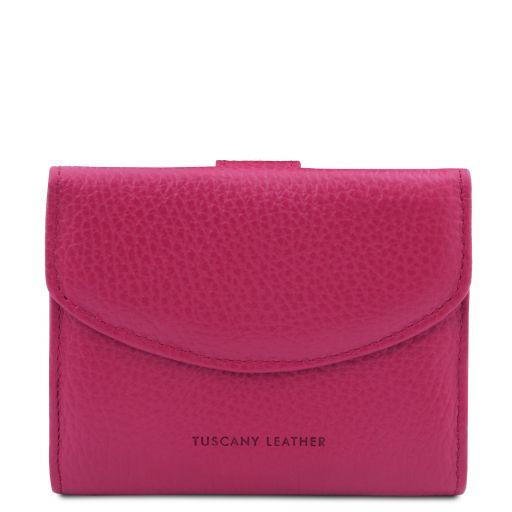 Calliope Exklusive Damenbrieftasche aus Leder mit 3 Scheinfächern und Münzfach Fucsia TL142058