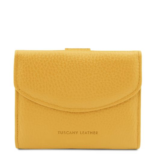 Calliope Elegante cartera de señora en piel con monedero Amarillo TL142058