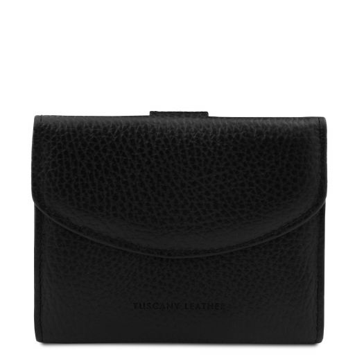 Calliope Exclusive 3 fold leather wallet for women with coin pocket Black TL142058