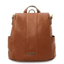 TL Bag Soft leather backpack Cognac TL142138
