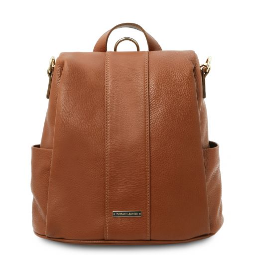 TL Bag Zaino in pelle morbida Cognac TL142138
