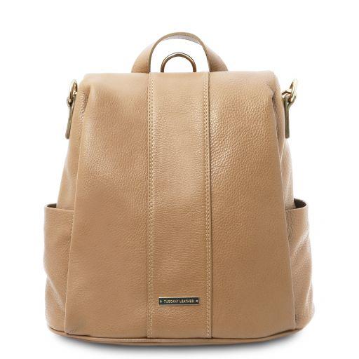 TL Bag Sac à dos en cuir souple Champagne TL142138
