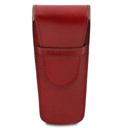 Elegante porta boligrafos a 2 espacios/porta reloj en piel Rojo TL142130