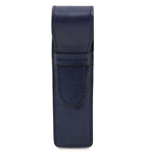 Exclusivo portaboligrafo en piel Azul oscuro TL142131