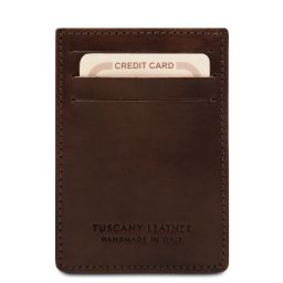 Exclusive leather credit/business card Dark Brown TL140806