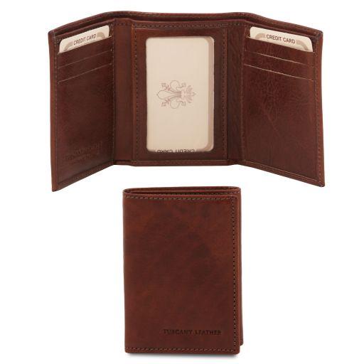Esclusivo portafoglio in pelle Marrone TL140801