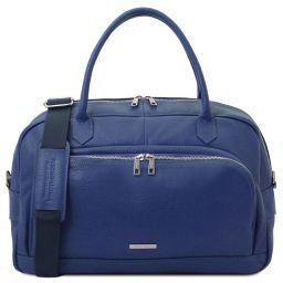 TL Voyager Travel soft leather duffle bag Dark Blue TL142148