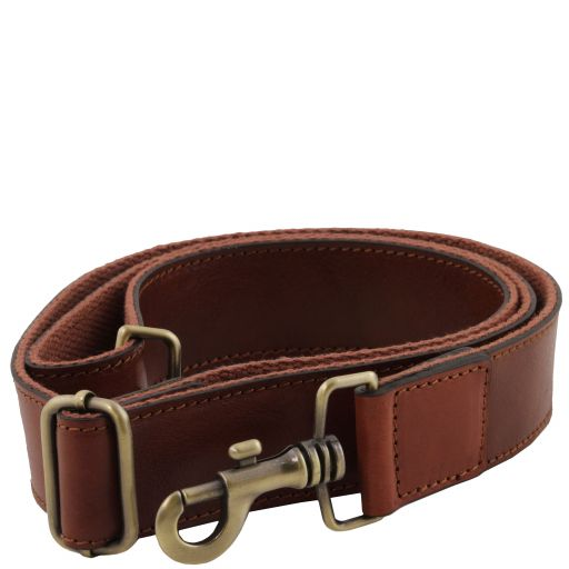 Adjustable briefcases leather shoulder strap Brown TL141854