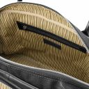 TL Voyager Travel soft leather duffle bag Black TL142148