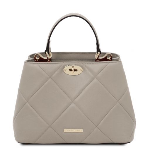 TL Bag Soft quilted leather handbag Серый TL142132