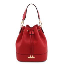 TL Bag Bolso cubo secchiello en piel Rojo Lipstick TL142146