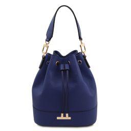 TL Bag Beuteltasche aus Leder Dunkelblau TL142146