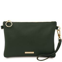 TL Bag Soft leather clutch Forest Green TL142029