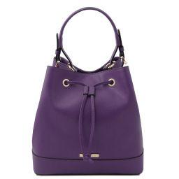 Minerva Beuteltasche aus Leder Purple TL142145