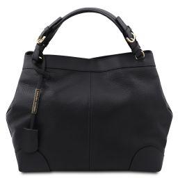 Ambrosia Bolso shopping en piel suave con bandolera Negro TL142143
