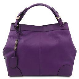 Ambrosia Cityshopping aus weichem Leder mit Tragegurt Purple TL142143