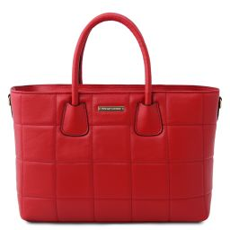 TL Bag Soft quilted leather handbag Lipstick Red TL142124
