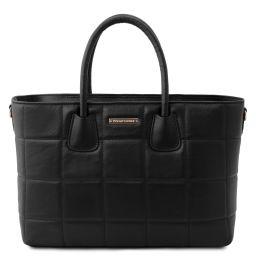 TL Bag Bolso a mano en piel suave acolchado Negro TL142124