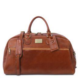 TL Voyager Leather travel bag - Large size Honey TL141422