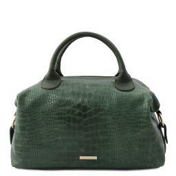 TL Bag Maxi bauletto in pelle morbida stampa cocco Verde Foresta TL142121