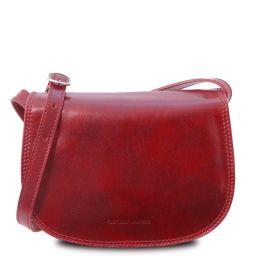 Isabella Klassische Umhängetasche aus Leder Rot TL9031