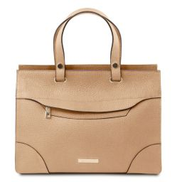 TL Bag Leather handbag Champagne TL142079