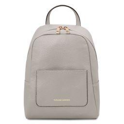 TL Bag Mochila pequeño en piel suave para mujer Light grey TL142052