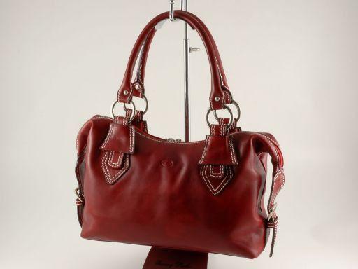 Anastasia Borsa in pelle da donna Rosso TL140440