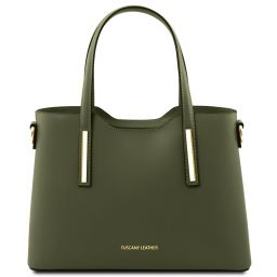 Olimpia Leather tote - Small size Forest Green TL141521
