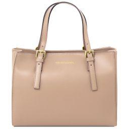 Aura Leather handbag Champagne TL141578