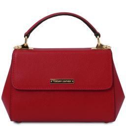 TL Bag Borsa a mano in pelle - Misura piccola Rosso TL142076