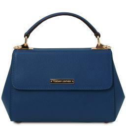 TL Bag Handtasche aus Leder - Klein Dunkelblau TL142076