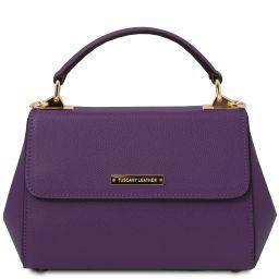 TL Bag Leather handbag - Small size Purple TL142076