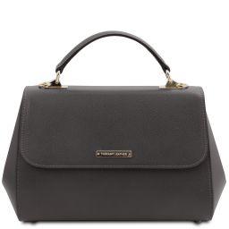 TL Bag Sac à main en cuir - Grand modèle Gris TL142077