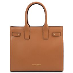 Catherine Leather handbag Cognac TL141933