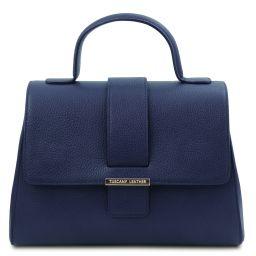 TL Bag Borsa a mano in pelle Blu scuro TL142156