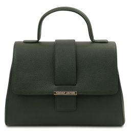 TL Bag Sac à main en cuir Vert Forêt TL142156
