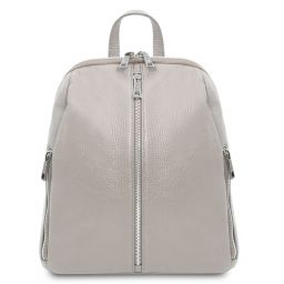 TL Bag Soft leather backpack for women Светло-серый TL141982