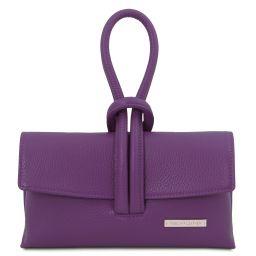 TL Bag Pochette in pelle Viola TL141990