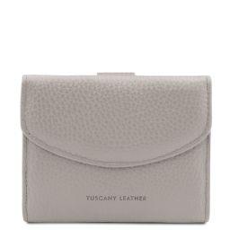 Calliope Elegante cartera de señora en piel con monedero Light grey TL142058